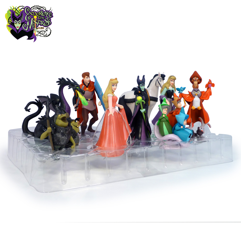 disney store �sleeping beauty� deluxe pvc figurine playset