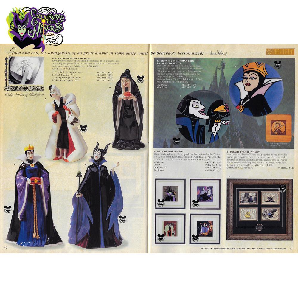 Disney Catalog 'Gallery' Royal Doulton The Disney Villains