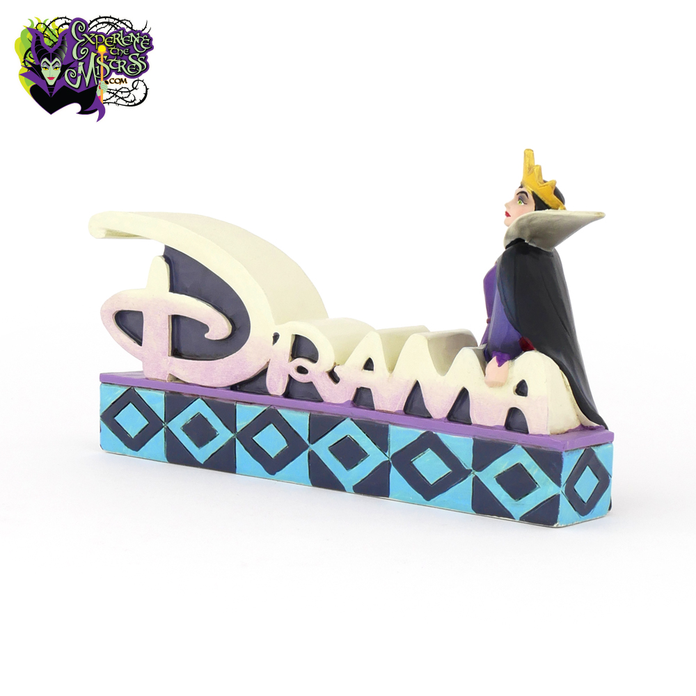 Jim Shore Disney Snow White Evil Queen Drama Word Plaque 4038491 Retired New