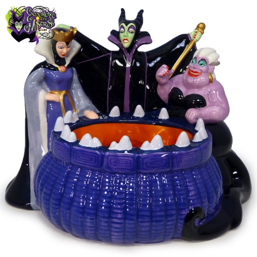 2004-Disney-Store-Villains-Candy-Dish-Maleficent-Evil-Queen-Ursula-001