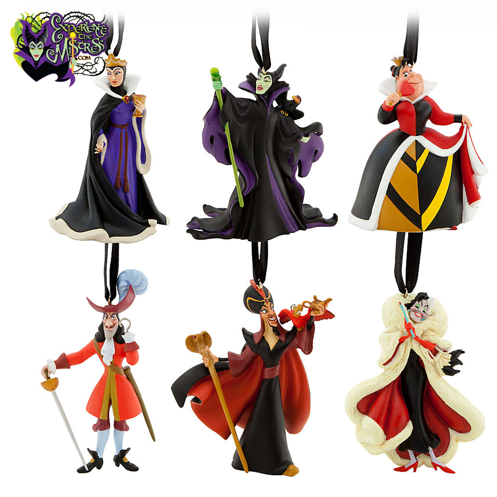 Disney Store Classic Disney Villains Hanging Christmas Holiday ...