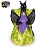2004-Disney-Auctions-Disney-Villains-Double-Sided-Ceramic-Cookie-Jar-Maleficent-Dragon-005