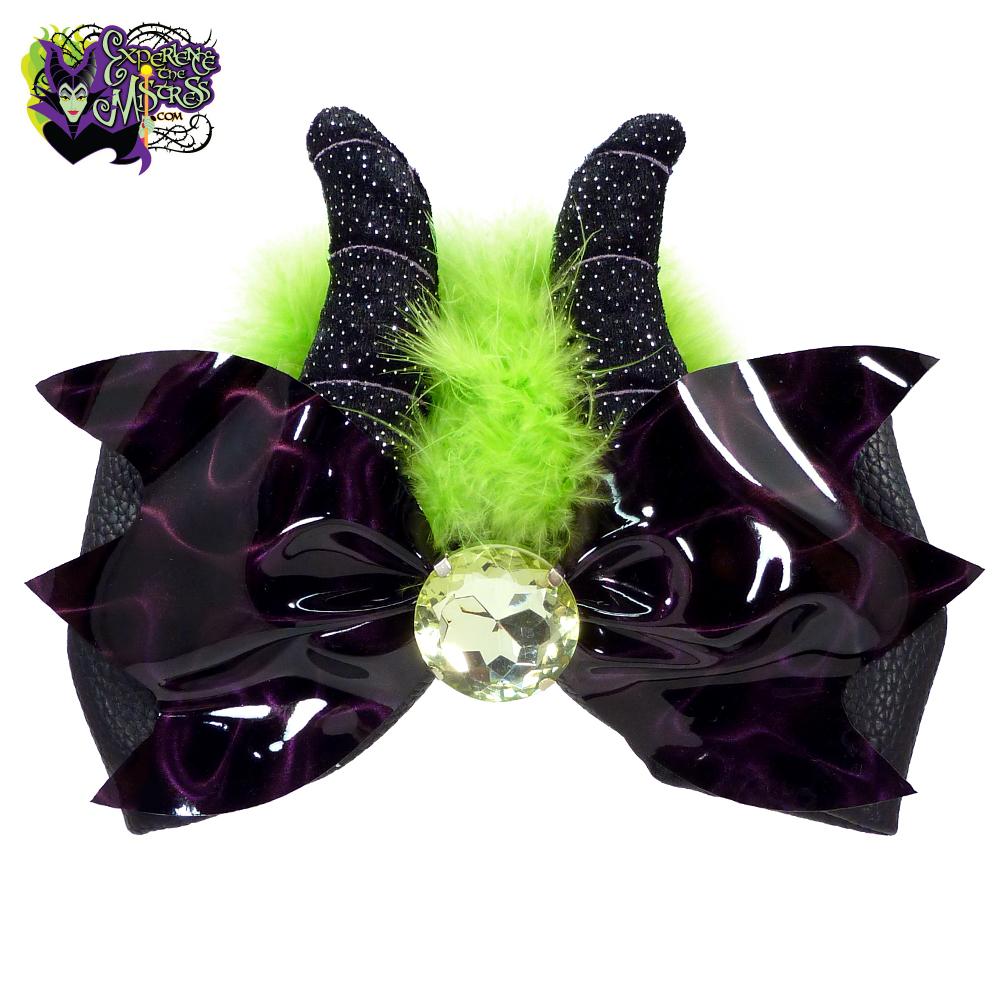 103c27e75ea11 Disney Parks Interchangeable Bow Collection  Disney Villains Mouse Ear  Headband Accessory with Plush Horns – Maleficent