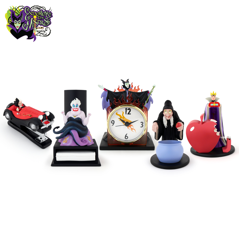 Disney Catalog Villains 5 Piece Desk Accessories Set Resin